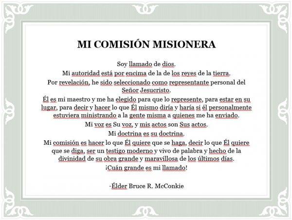 Mi Comisión Misionera